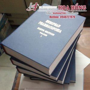 đóng bìa mạ chữ vàng tại cơ sở in Ha Hồng