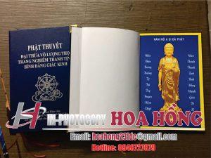 sách kinh in màu đóng bìa cứng