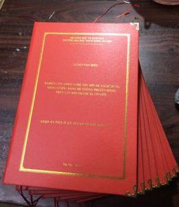 bìa cứng mạ chữ vàng luận án tiến sĩ